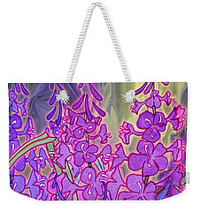 Weekender Tote Bag featuring the mixed media Fireweed Medley by Teresa Ascone