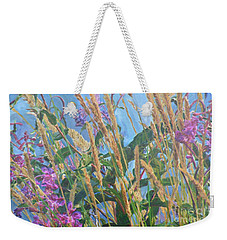 Weekender Tote Bag featuring the photograph Fireweed Number Six by Brian Boyle
