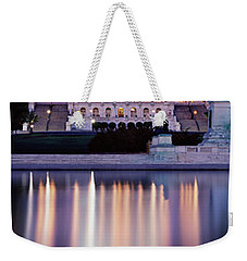 Firework Display Over A Government Weekender Tote Bag by Panoramic Images