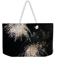 Weekender Tote Bag featuring the photograph Fireworks 3 by Susan  McMenamin
