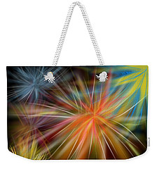 Weekender Tote Bag featuring the digital art Fireworks by Christine Fournier