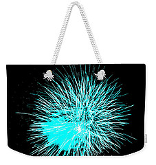 Fireworks In Blue Weekender Tote Bag by Michael Porchik