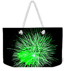 Fireworks In Green Weekender Tote Bag by Michael Porchik