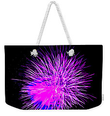 Fireworks In Purple Weekender Tote Bag by Michael Porchik