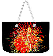 Fireworks In Red And Yellow Weekender Tote Bag by Michael Porchik