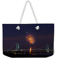 Fireworks On Staten Island South Beach Weekender Tote Bag