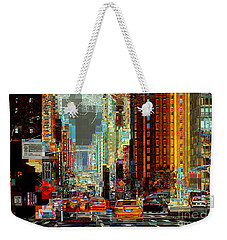 First Avenue - New York Ny Weekender Tote Bag