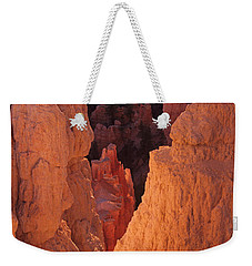 Weekender Tote Bag featuring the photograph First Light On Hoodoos by Susan Rovira