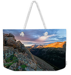 First Light On The Mountain Weekender Tote Bag by Ronda Kimbrow
