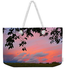 Weekender Tote Bag featuring the photograph First October Sunset by Kathryn Meyer