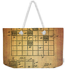 First Scrabble Game Board Patent From 1956  Weekender Tote Bag