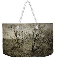 First Snow Weekender Tote Bag by Amy Weiss