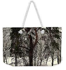 First Snow Weekender Tote Bag by Henryk Gorecki