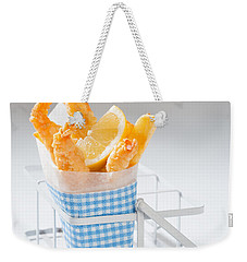 Fish And Chips Weekender Tote Bag by Amanda Elwell
