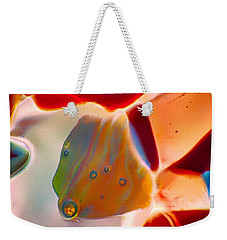 Weekender Tote Bag featuring the photograph Fish Blowing Bubbles by Omaste Witkowski