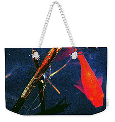 Weekender Tote Bag featuring the photograph Fish Bubble by Faith Williams