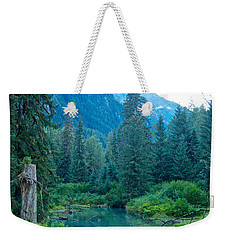 Fish Creek In Tongass National Forest By Hyder-ak  Weekender Tote Bag by Ruth Hager