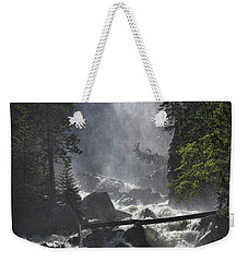 Weekender Tote Bag featuring the photograph Fish Creek Mist by Don Schwartz
