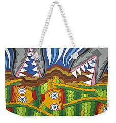 Fish Dinner Weekender Tote Bag by Rojax Art