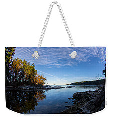 Fish Eye View Weekender Tote Bag