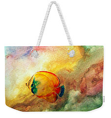 Weekender Tote Bag featuring the photograph Fish In The Sea by Athala Carole Bruckner
