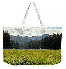 Fish Lake - Open Field Weekender Tote Bag by Laddie Halupa