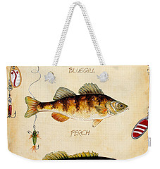 Fish Trio-c Weekender Tote Bag by Jean Plout