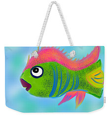 Weekender Tote Bag featuring the digital art Fish Wish by Christine Fournier