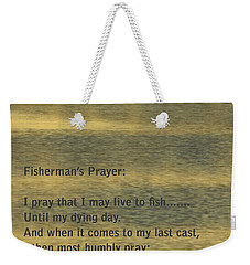 Fisherman's Prayer Weekender Tote Bag