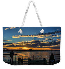 Fishermen Morning Weekender Tote Bag by Tammy Espino