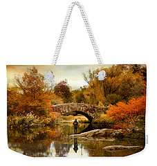Weekender Tote Bag featuring the photograph Fishing At Gapstow by Jessica Jenney