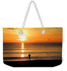 Fishing At Sunrise Weekender Tote Bag