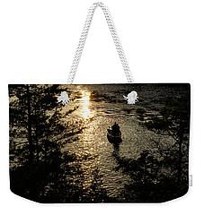 Fishing At Sunset - Thousand Islands Saint Lawrence River Weekender Tote Bag