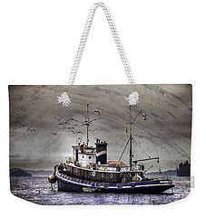 Fishing Boat Weekender Tote Bag by Peter v Quenter