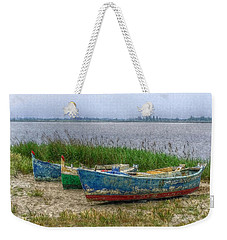 Weekender Tote Bag featuring the photograph Fishing Boats by Hanny Heim
