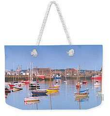 Fishing Boats In The Howth Marina Weekender Tote Bag by Semmick Photo