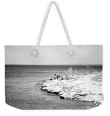 Weekender Tote Bag featuring the photograph Fishing by Erika Weber