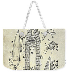 Fishing Lure Patent  Weekender Tote Bag by Jon Neidert