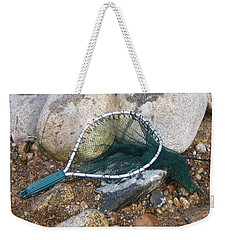 Weekender Tote Bag featuring the photograph Fishing Net by Kerri Mortenson