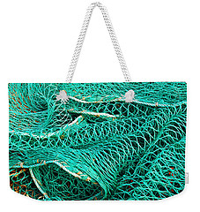 Weekender Tote Bag featuring the photograph Fishing Nets by Jane McIlroy