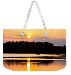 Fishing On Golden Waters Weekender Tote Bag