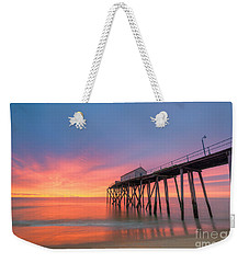 Fishing Pier Sunrise Weekender Tote Bag