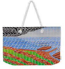 Fishing Shack Town Weekender Tote Bag