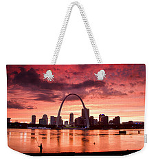 Fishing The Mississippi In St Louis Weekender Tote Bag