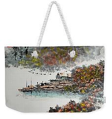 Fishing Village In Autumn Weekender Tote Bag
