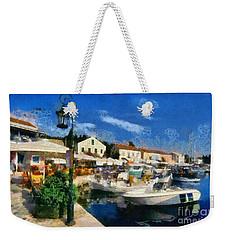 Fiskardo Town In Kefallonia Island Weekender Tote Bag