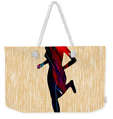 Fitness Runner Weekender Tote Bag by Marvin Blaine