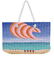 Five Beach Umbrellas Weekender Tote Bag