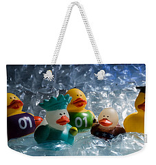 Five Ducks In A Row Weekender Tote Bag