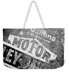 Five Gallon Motorcycle Oil Can Weekender Tote Bag by Wilma  Birdwell